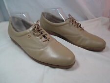 "Womens Easy Spirit Beige Lace Up Shoes Sz 10.5 3A  1"" Heel"