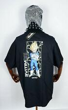Primitive Skate Skateboards Tee T-Shirt Dragonball Z Vegeta Glow Black in M