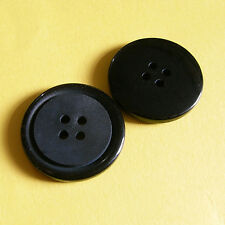 15 Large Big Coat Jacket Outerwear Coats Craft Sewing Buttons 28mm  Black L83