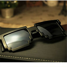 ThugLife Glasses Pixel Men Sunglasses Black Mosaic Sunglasses masculine mirrored