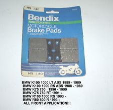 BMW K R 100 K75 K75RT RS LT BENDIX DISC BRAKE  PADS MA140 NEW