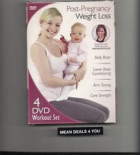 New! Post-Pregnancy Weight Loss (DVD, 2012, 4-Disc Set) brand new