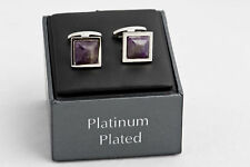 Autograph platinum plated cufflinks in original boxes with price labels