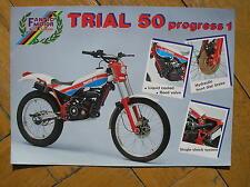 FANTIC MOTOR TRIAL 50 PROGRESS 1 SCHEDA TECNICA SALES BROCHURE