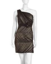 NWOT black & nude Max & Cleo One-Shoulder Belted Dress size 8