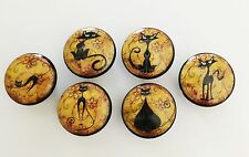 Handcrafted CAT Wood Cabinet Knobs Drawer Knobs