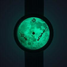 Zero-Gravity watch : Moonlight metal strap (moon watch / time of the universe)