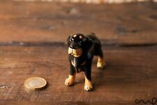 Ceramic rottweilers dog animal figurine Pottery doll Ornaments Collectable Poison