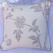 "cushion cover laura Summer Palace  dove grey  16""(piped) Grey"