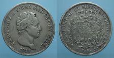 CARLO FELICE 5 LIRE 1830 GENOVA BB