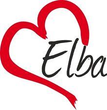 "Auto Aufkleber "" ELBA "" Sticker Insel Italien ca.9x9cm konturgeschnitten"