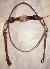 Leather Bridle Hermann Oak Brown Bridle with Concho Western Riding FULL size..A3