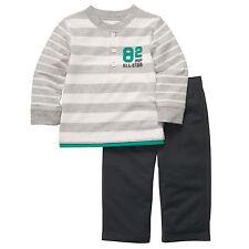 Carter's Boy's 2 Piezas All Star Estilo Camiseta de manga larga y pantalón ajustado