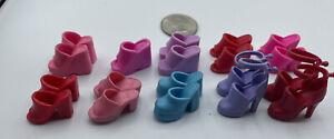 Barbie Doll SHOES LOT Pairs Superstar Heels Pumps Stilettos Rubber Clogs