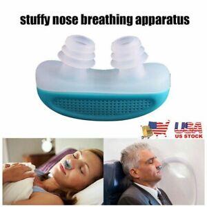 Silicone Anti Snore Nose Clip Micro Sleep Apnea Device Stop Snoring Machine US