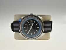Vintage Gents Clinton Divers Watch Automatic day date world time Stainless Steel