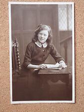 R&L Postcard: Girl Studio Portrait, Best Clothes & Newspaper, Van Ralty