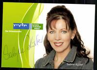 Sabine Küster MDR Autogrammkarte Original Signiert ## BC 9242