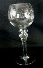 Spherical Hurricane Candle Holder - Taper, Pillar or Votive Engraved Leaf & Vine
