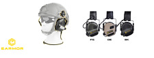 Earmor OPSMEN cuffie POLIGONO M31H Electronic Hearing Protector FAST BLACK NERE