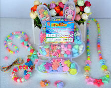 350pcs Mix Color&Shape Jewelry Beads Set For Kids Crafts DIY in Rabbit-shape box