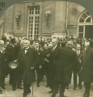 Clemenceau, Wilson & Lloyd George after signing Peace Treaty - WW1 Stereoview