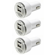 3x Pack Dual 2.1A 2-Port USB Car Charger Adapter For iPhone Samsung LG Universal