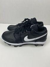Nike Air Jordan 1 Retro MCS Low Black Baseball Cleats CJ8524-001 Men's Size 8