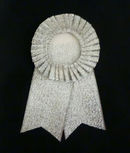 SILVER, PLAYBOY BUNNY ROSETTE in Excellent Condition