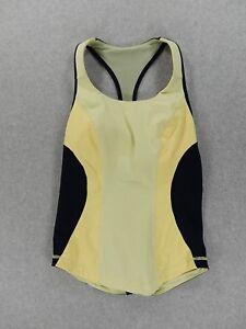 LuLuLemon Fitness Running Yoga Tank With Bra (Womens Size 6) Yellow