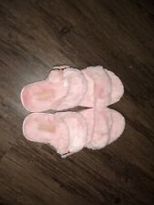 Koolaburra By Ugg Pink Faux Shearling Slippers Sz 8 NWOB