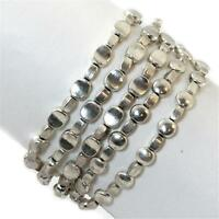 Silver Bracelet Balinese Handcrafted Layered 5 Strand Metal Alloy