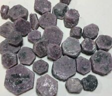 Bulk 1lb Rough Raw Hexagonal Ruby Crystal Gemstones