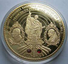 VATIKAN PAPST - Benedikt XVI. & Paul II. - 70 MM GROß - GOLDMÜNZE