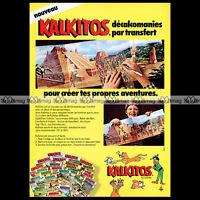 KALKITOS (Gilette / Action Transfers) 1978 - Pub / Publicité / Advert Ad #A957
