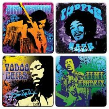 New! Jimi Hendrix Collectible:2011 Vandor Iconic Figure Wood Coaster Set
