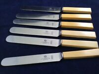 "Vintage 9 1/4"" Dinner Knives Faux Bone Henry Hobson & Sons Express Sheffield"