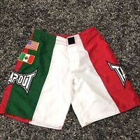 Tapout MMA UFC Shorts Boxing Mexico Stripe American Mexican Flag Men's size 30