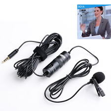 Lavalier Condenser Microphone Lapel Clip for DSLR Camera Smartphone Audio Record
