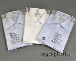 GARMENT SHIRT CLOTHES BAGS CLEAR POLYTHENE PLASTIC SELF SEAL DRY CLEANERS BAGS