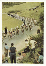 1963 Russian Soviet postcard DISTANCE OF CYCLO-CROSS photo by Lev Borodulin