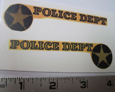 Nylint Bronco police bronco water slide decal set