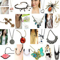 Fashion jewelry Wholesale job lots necklaces Mixed Silver statement necklaces