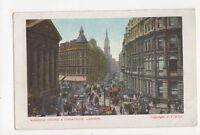 Mansion House & Cheapside London Vintage Postcard 326a