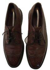 Men's Vintage Freeman Longwing Oxford Brogues Brown Leather V-Cleats Size 11C