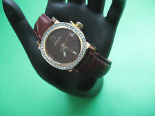 WITTNAUER WN2001 LADIES WATCH R/G/P CASE BURGUNDY TEXTURE DIAL CRYSTAL DATE