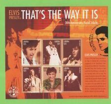 Elvis Presley Liberia Sheet Famous People Postal Stamps