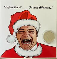 BREXIT collectors 50p UK uncirculated coin and Christmas card