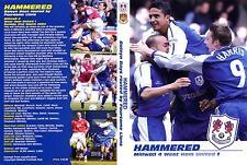 Millwall v West Ham - Hammered DVD - 21/03/2004 RARE!!!