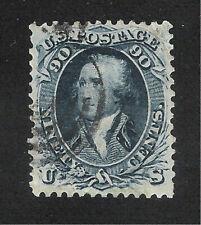 U.S. Scott 72 Washington 90 cent blue stamp.